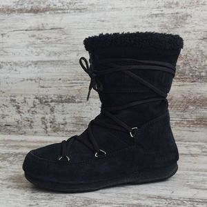 ⚀Tecnica Black Suede Far Side Moon Boots